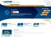 Sitio web de Activo Banco Universal