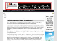 Sitio web de Iunp, Instituto Universitario de Nuevas Profesiones