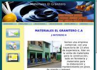 Sitio web de Materiales El Granitero CA