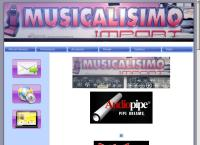 Sitio web de Musicalisimo Import, C.a