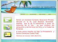 Sitio web de Conjunto Vacacional Jardínes de Margarita, CA