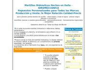 Sitio web de Martillo Hidraulico