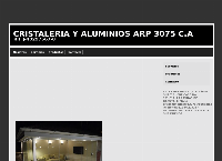 Sitio web de CRISTALERIA Y ALUMINIOS ARP 3075 C.A