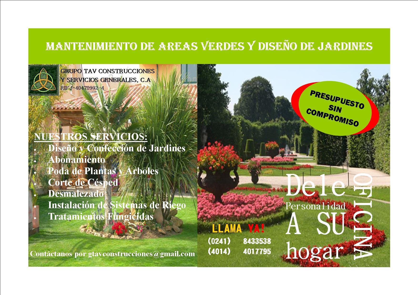 Grupo tav construcciones y servicios generales ca - Empresas jardineria valencia ...